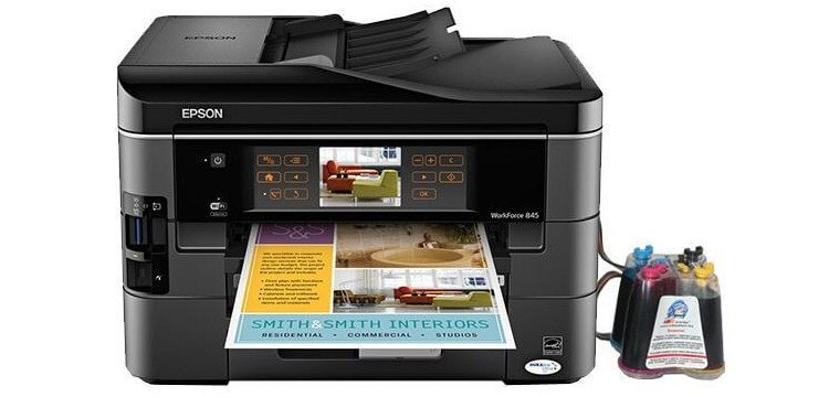 МФУ Epson WorkForce 845 с СНПЧ картинка Алмата