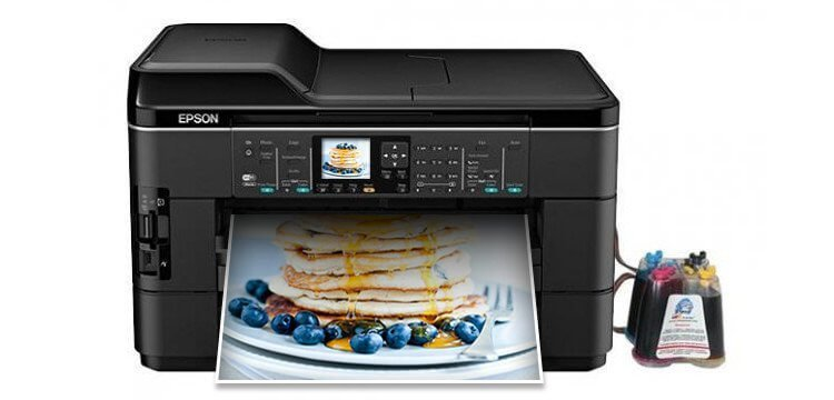МФУ Epson WorkForce WF-7520 с СНПЧ картинка Казахстан