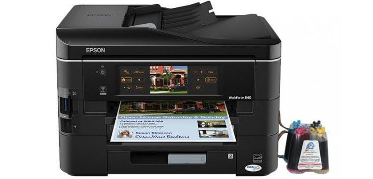 Epson WorkForce 840 с СНПЧ 3