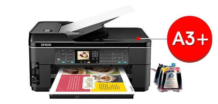 МФУ Epson WorkForce WF-7510 с СНПЧ